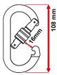 Karabina pro výškové práce Camp Oval Steel Screw