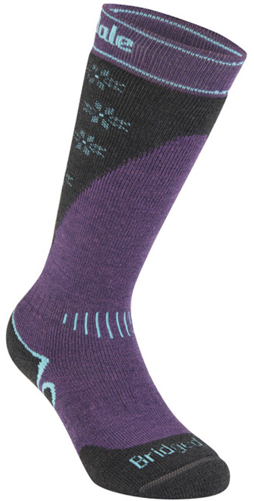 Bridgedale Ski Midweight+ Merino Performance Women's Velikost: S / Barvy: dark purple