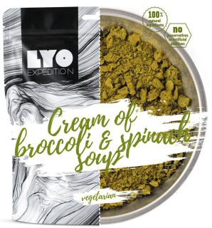 Lyofood krémová brokolicová polévka se špenátem