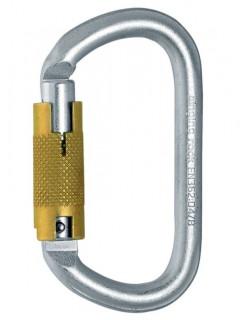 Ocelová karabina pro výškové práce Singing Rock Ovál ocel Triple Lock